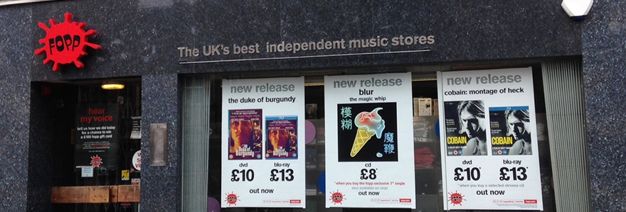 Fopp Record Store in Cambridge