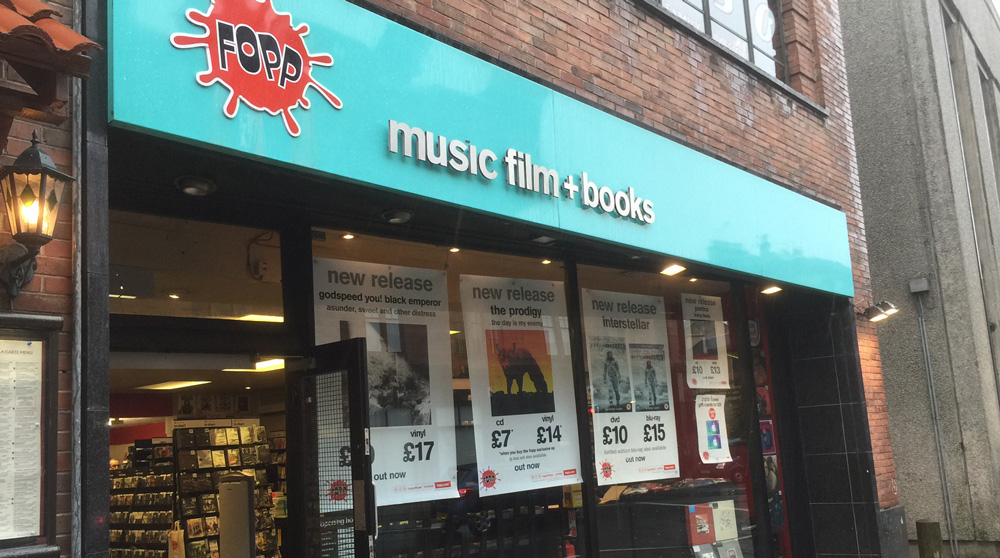 Fopp Store on Byres Road, Glasgow